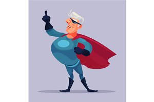Old grandfather superhero character