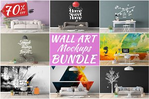 Wall Art Mockups BUNDLE V4