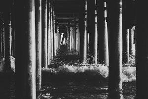 Waves Under the Pier