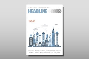 Modern city vector template size A4