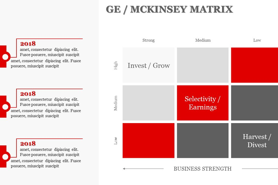 GE / MCKINSEY MATRIX PowerPoint ~ PowerPoint Templates