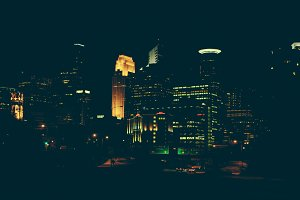 Minneapolis Night Cityscape