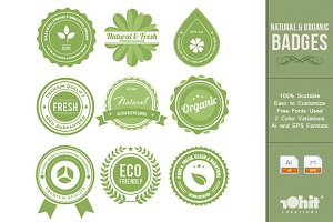 Natural & Organic Badges