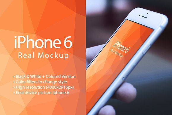 Free Mockup Iphone 6 Real Device Mockup
