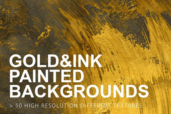 Gold & Ink Painted Backgrounds