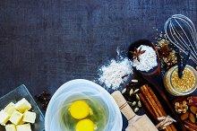 Bakery recipe background