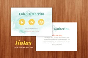 Tintas Save the Date Template