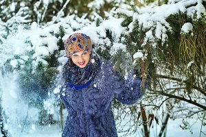 Girl in winter