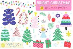 Bright Christmas Clip Art | Raster