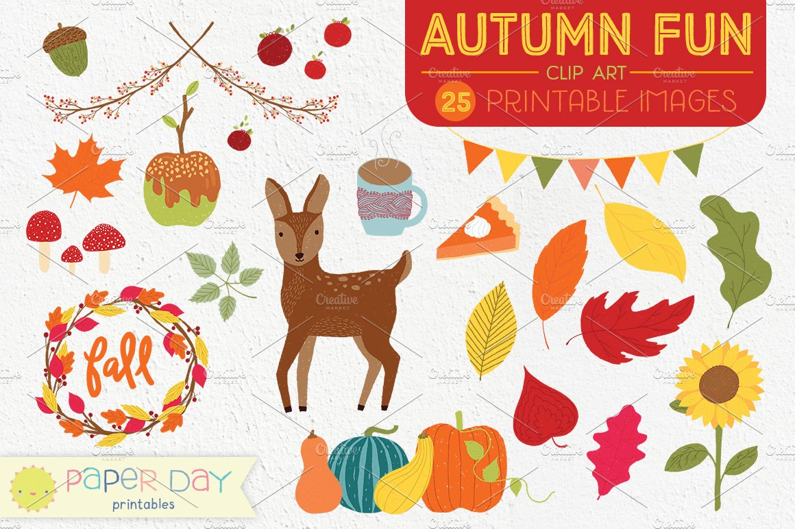 Autumn Fun Fall Clip Art
