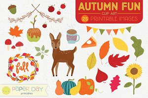 Autumn Fun Fall Clip Art | Raster
