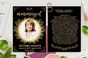 Gold Foil Style Memorian Card