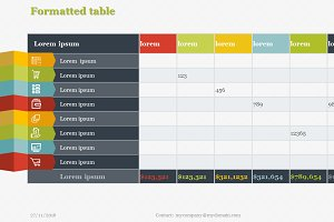 Creative Tables Pack 1 PowerPoint
