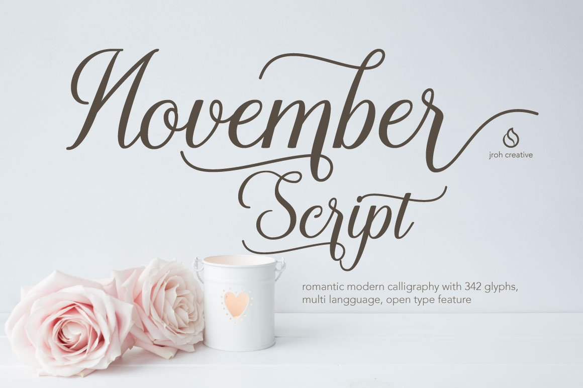November Script Fonts Creative Market