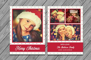 Christmas Photo Card Template-V449