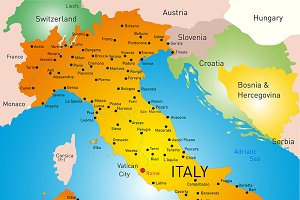 map of Italy country