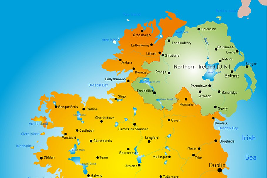 Country Of Ireland Map.Map Of Ireland Country