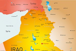 map of Iraq country