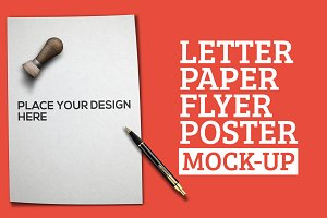 Letter Paper Flyer Mock-Up