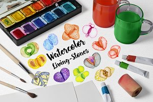 Watercolor Living Stones