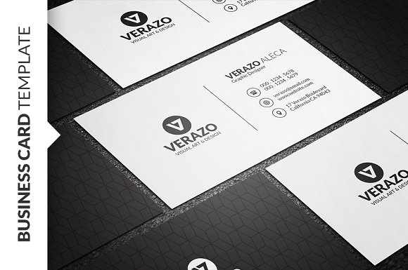 clean minimalist business card business card templates creative market - Minimalist Business Card