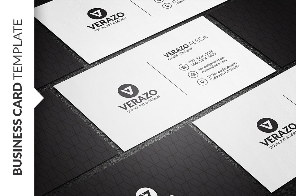Clean minimalist business card business card templates creative clean minimalist business card business card templates creative market fbccfo Gallery