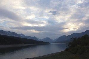 Lake Sherburne at Dusk