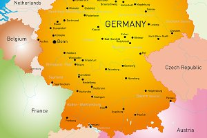 map of Germany country