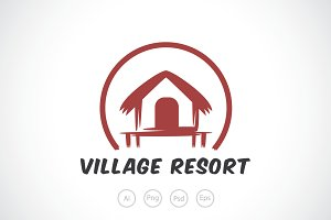 Village Resort Logo Template