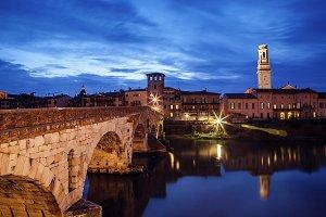 Verona at night.