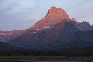 Sunrise over Glacier National Park