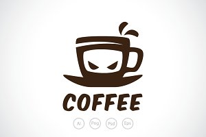 Ninja Coffee Logo Template