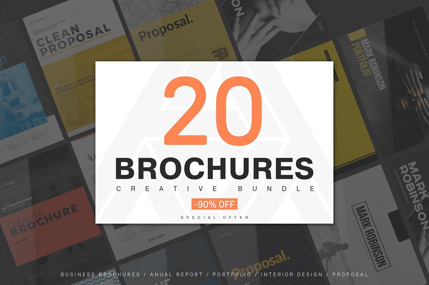20 creative brochures mega bundle