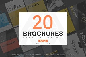 20 Creative Brochures - Mega Bundle