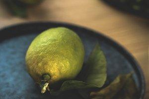 Fresh ripe citrus. Lemons