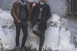 two young man posing