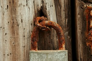 Closed rusty