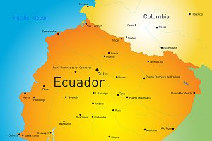 map of Ecuador country