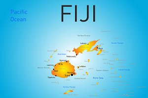color map of Fiji