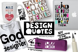 Hand Drawn Design Quotes Vector