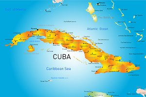 map of Cuba country