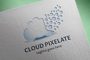 Cloud Pixelate Logo