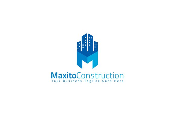 maxito construction logo template logo templates creative market