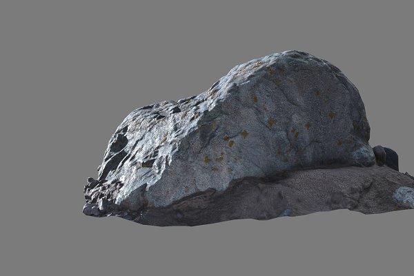 3D Environment: Sun Studio - Gray round stone 2