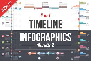 Timelines Infographics - Bundle 2