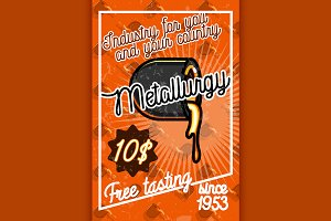 Color vintage Metallurgy poster