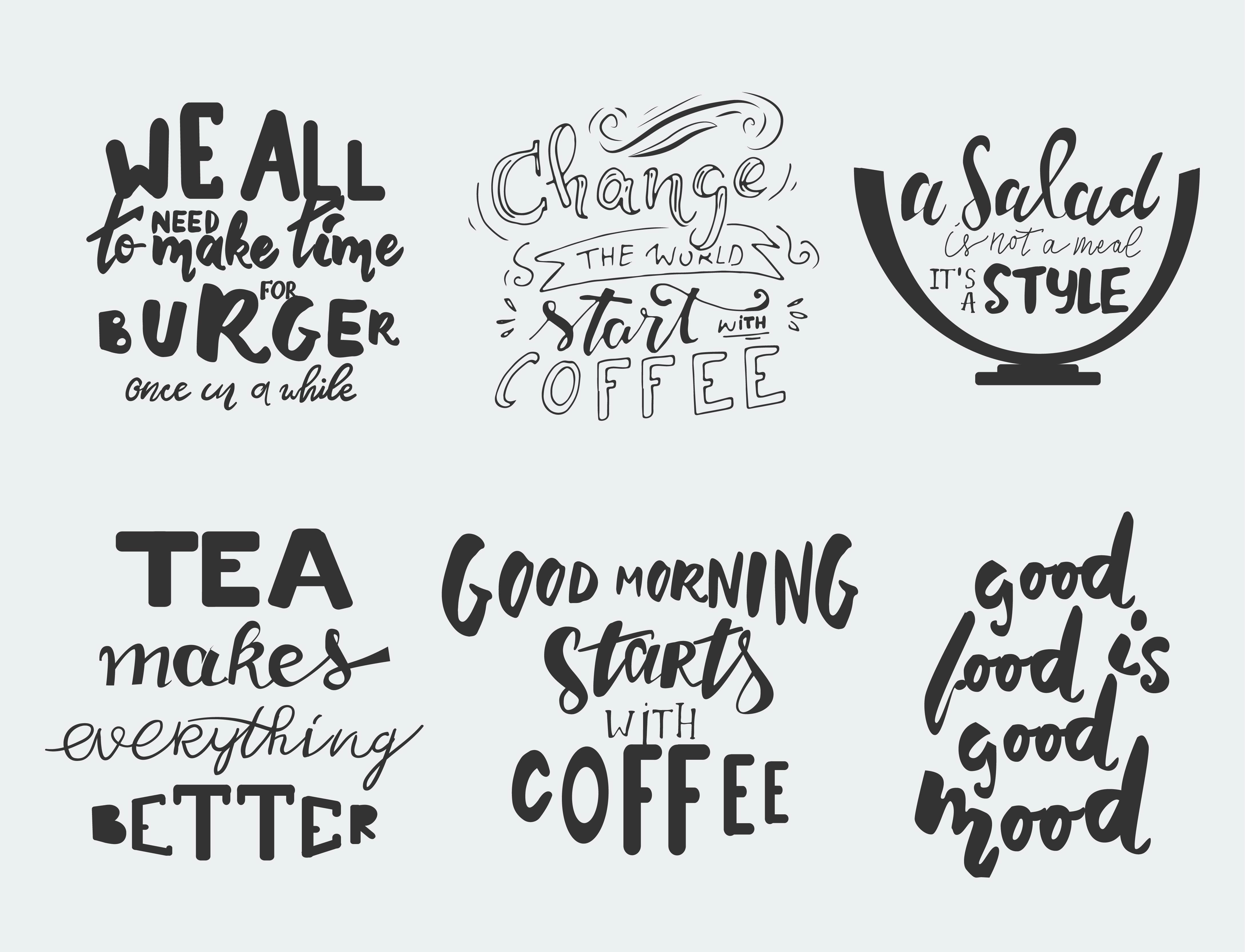 Meat Quotes: Food Lettering Set