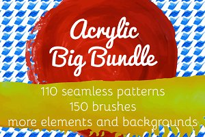 Acrylic Brushes, Patterns, BG
