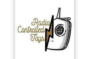 vintage radio controlled toys emblem