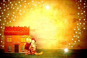 Santa Claus xmas card.Copyspace